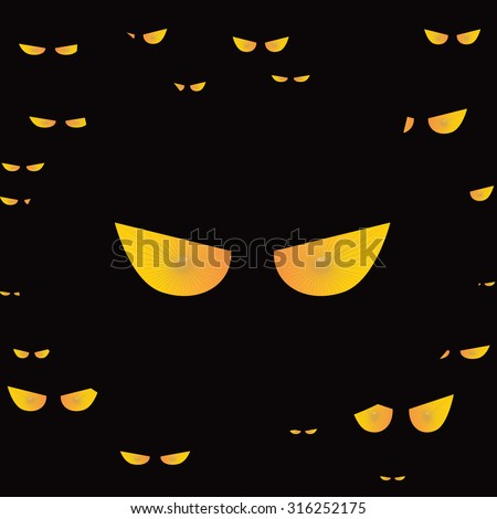 eyes cat halloween icon vector