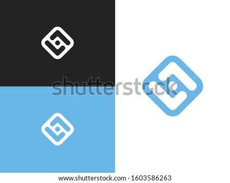 Eyes clinic logo. Ophthalmology of the emblems. Stylized eyes and letters L. Vision concept idea. Vector stylized eye sign with up and down arrows. Stock fotó ©