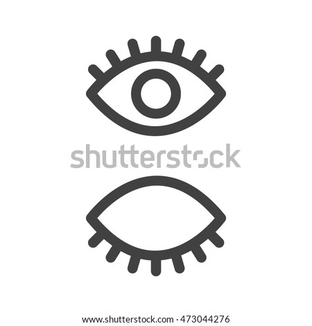 Eyes icon set vector collection. Look and Vision icons.