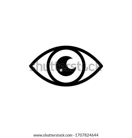 Eyes icon vector. Vision icon symbol isolated Foto stock ©
