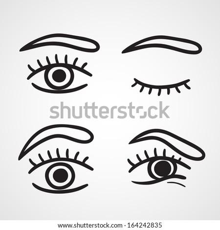 Eyes icons design over white background vector illustration isolated