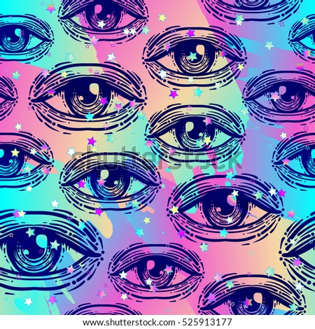 eyes  seamless pattern over