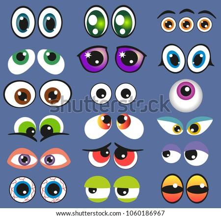 eyes set vector illustration