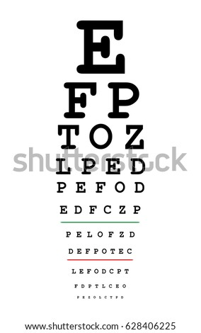 Royalty Free Medical Eye Chart For Vision Testing 57462550 Stock
