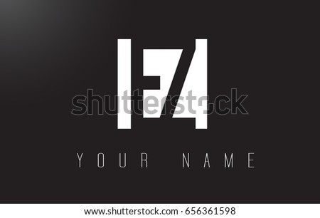 EZ Letter Logo With Black and White Letters Negative Space Design.