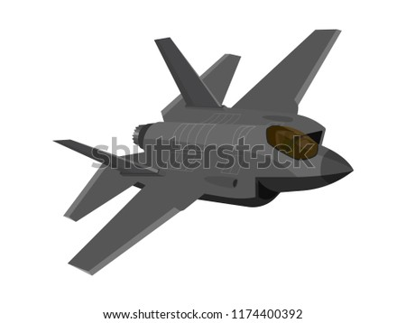 f 35 fighter aircraft in flat