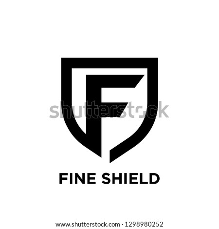 f initial letter shield logo icon designs vector illustration