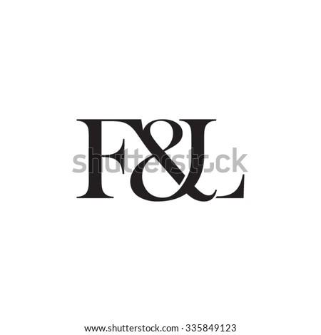 F&L Initial logo. Ampersand monogram logo Stock fotó ©