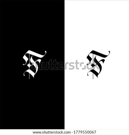 F letter logo monogram design Foto stock ©