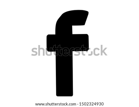 F sign or logotype isolated icon on white background. Simple letter design in trendy flat style. EPS 10 - Vector eps 10