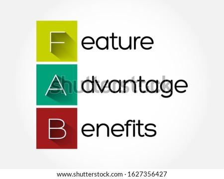 FAB - Feature Advantage Benefits acronym, business concept background Сток-фото ©