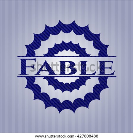 Fable badge with jean texture