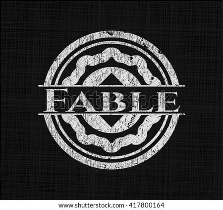Fable chalk emblem written on a blackboard