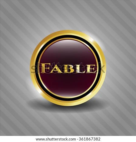 Fable gold emblem or badge