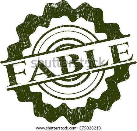 Fable grunge style stamp