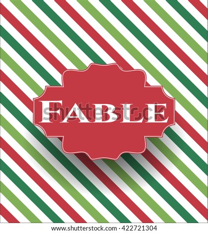 Fable retro style card, banner or poster
