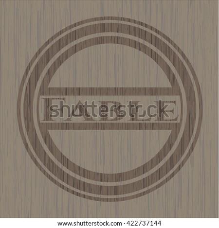 Fable retro wood emblem