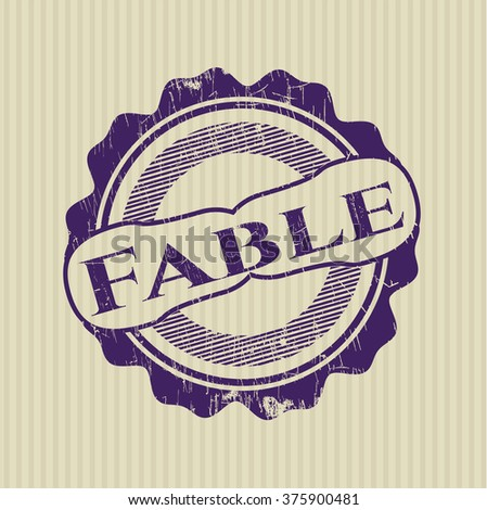 Fable rubber grunge texture seal