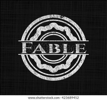 Fable written with chalkboard texture