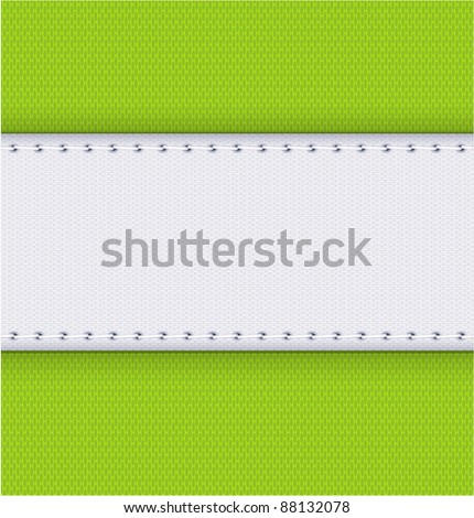 Fabric an seam vector background.