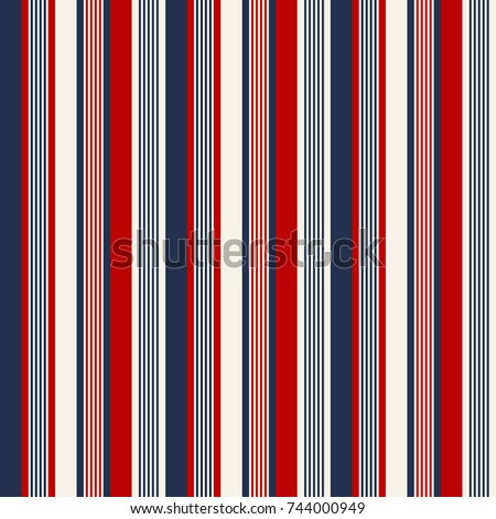 fabric Retro Color style seamless stripes pattern. Abstract vector background.