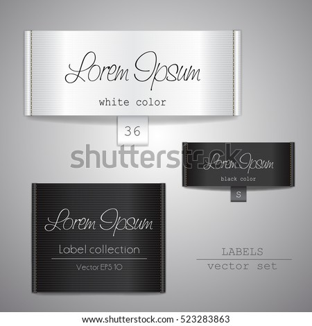 Fabric tags set illustration label template label