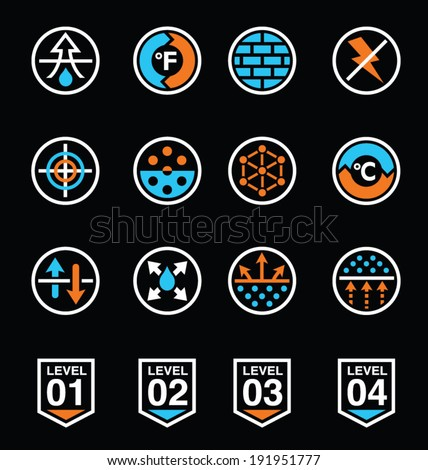 Fabric technology icons