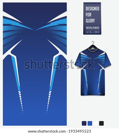 Fabric textile design for sport t-shirt, soccer jersey, football kit, e-sport shirt, bicycle, basketball, racing, baseball, sport uniform. Soccer jersey pattern for sublimation printing. Sport Vector