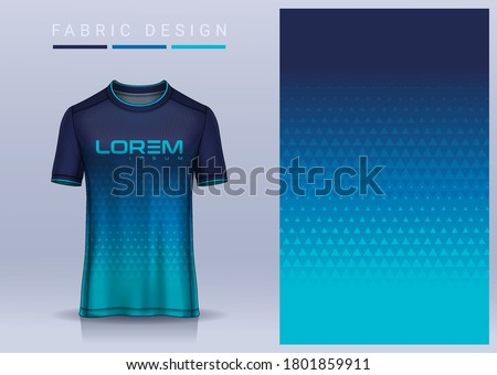 Fabric textile for Sport t-shirt ,Soccer jersey mockup for football club. uniform front and back view.