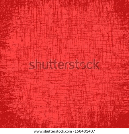 Fabric Texture - red distressed background. EPS10 vector illustration.