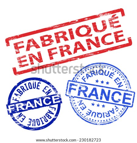 fabrique en france rubber stamp vector illustrations 230182723 shutterstock. Black Bedroom Furniture Sets. Home Design Ideas