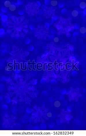 fabulous blue background. Christmas snowflakes. Vector.