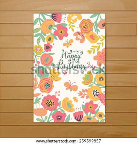 fabulous happy birthday card in