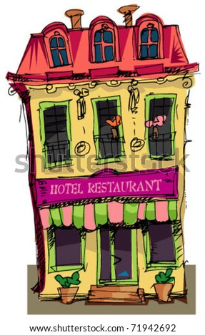 facade of little hotel