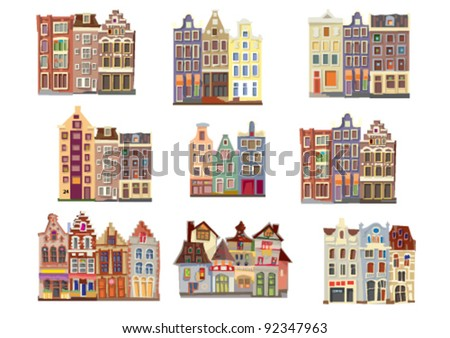 facades of old houses