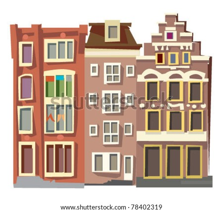 facades of old houses - Amsterdam