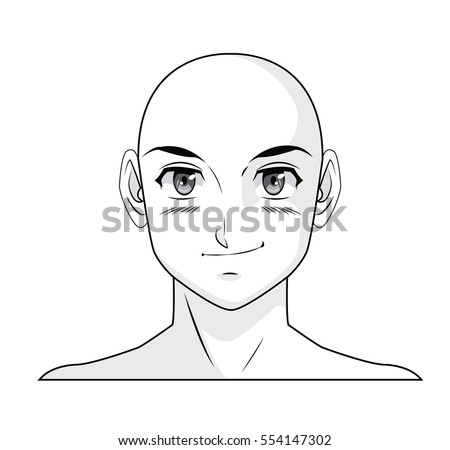 face boy anime manga comic bald
