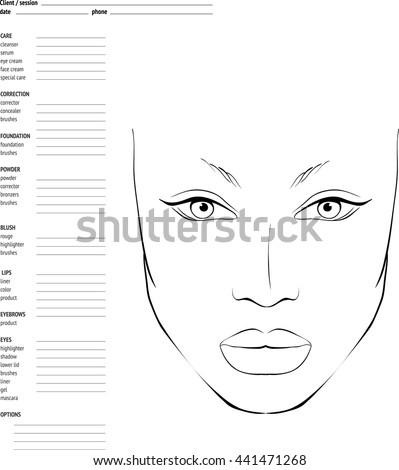 Face Chart For Makeup Artists Saubhaya Makeup