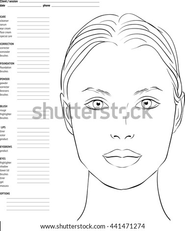 Vector Images, Illustrations and Cliparts: Face chart Makeup Artist ...