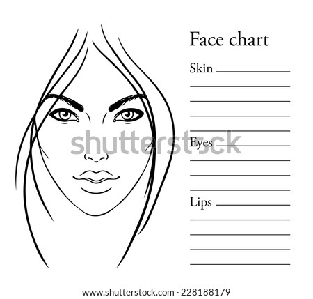 Blank Face For Makeup Stock Vector Face Chart Makeup