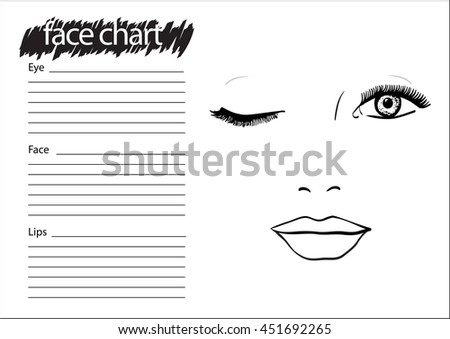 Vector Images Illustrations And Cliparts Face Chart Makeup Artist