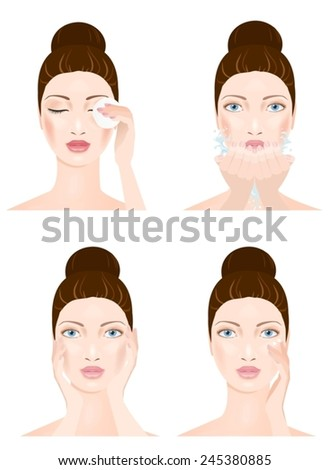 face cleaning  removing makeup