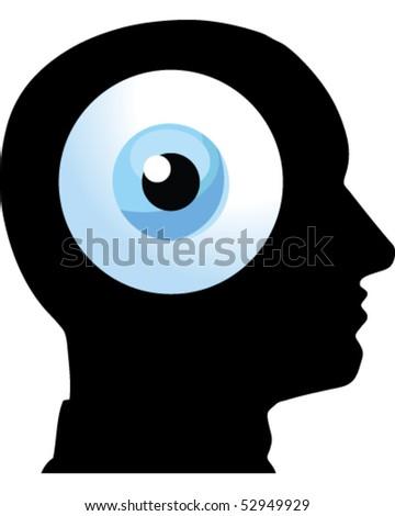 Face Eye - stock vector