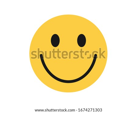 Face icon. Simple emotion icon.  Smile icon Сток-фото ©