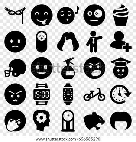 face icons set set of 25 face