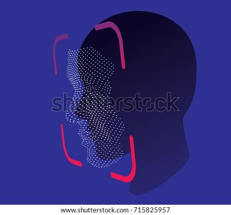 face ID scan vector