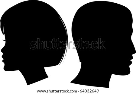 face man and woman