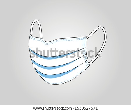 Face mask. Surgical mask. Procedure mask. For doctors, nurses and people. Health care and personal hygiene product. Stay away from harmful germs like coronavirus. Covid-19 outbreak. Vector design.