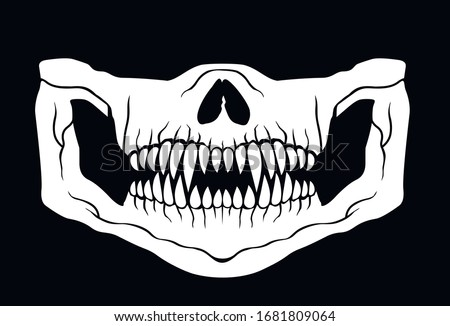 face mask with predator teeth