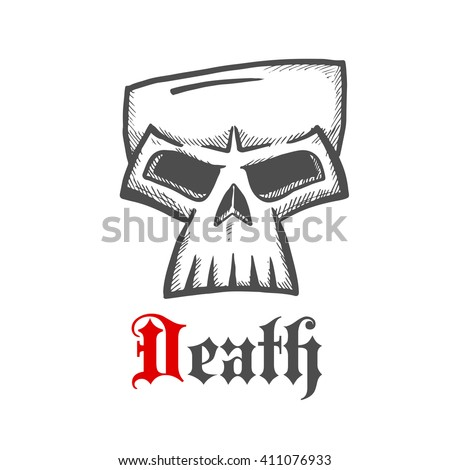 face of a death symbol with
